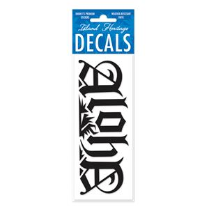 Decal Small Banner, Royal Aloha Black